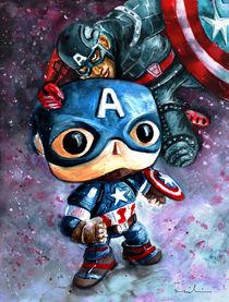 Captain Funko And Captain America by Miki de Goodaboom