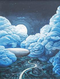 Nachtflug im Wolkenmeer von Wolfgang Klamp