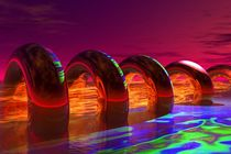 fire flowing through the rings von kunstmarketing