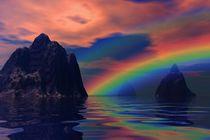 rainbow before landscape von kunstmarketing