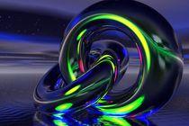 magic rings in blue-green von kunstmarketing