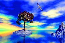 bird before magic tree by bruder-d