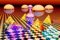 Magic balls and pyramids von kunstmarketing