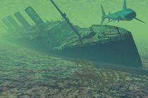 Titanic under water by kunstmarketing