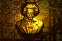 Beethoven-Büste in Gold von kunstmarketing