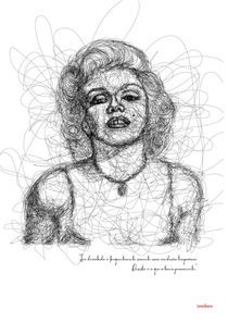 Marylin Monroe in Lines by Camila Oliveira