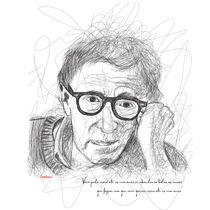 Woody Allen in Lines von Camila Oliveira