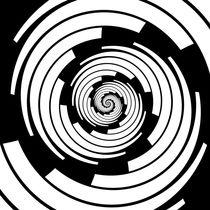 Black and White Spiral von Melanie Mertens