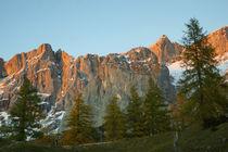 Dachsteingebirge im Abendrot von Sabine Radtke