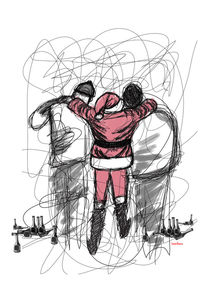 Santa Claus in Lines by Camila Oliveira
