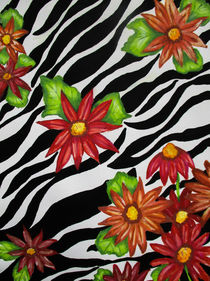 Floral Zebra Print von Dawn Siegler