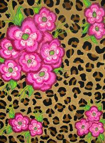 Floral Leopard Print von Dawn Siegler
