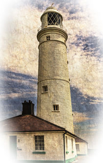 Nash Point Lighthouse  East Tower by Ian Lewis