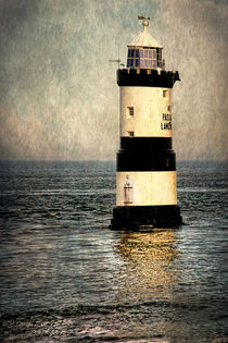 Penmon Trwyn Du Lighthouse Anglesey by Ian Lewis