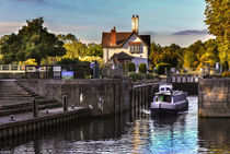 Goring on Thames Lock von Ian Lewis