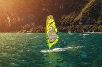 Windsurfer at Garda Lake von h3bo3