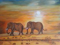 Elefantenpaar by Marija Di Matteo