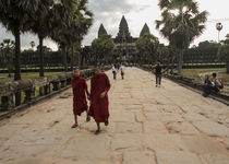 approaching Angkor Wat by jasminaltenhofen