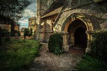 Little Wittenham Church Porch von Ian Lewis