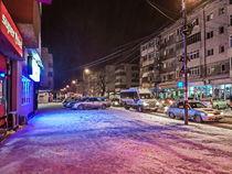 Purple street  by Enache Armand Iustinian