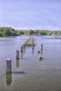 Steg im See von Petra Dreiling-Schewe