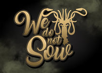 Game of thrones Text Art - Greyjoy House by mequem design