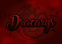 Game of thrones Text Art - Dracarys by mequem design