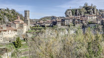 Panoramic View of Rupit i Pruit (Catalonia) von Marc Garrido Clotet