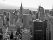 rockefeller view in black and white  by jasminaltenhofen
