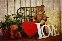 Teddybären mit Herz von Claudia Evans