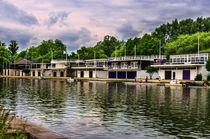 Oxford University Boathouses by Ian Lewis