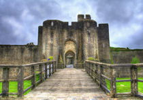 Caerphilly Castle Gatehouse by Ian Lewis