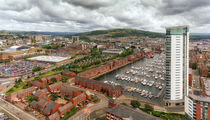 Swansea City East view by Leighton Collins