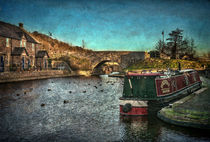 Brecon Canal Basin in Winter by Ian Lewis