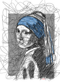Girl of the pearl earring von Camila Oliveira