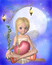 Kleine Elfe mit Herz von Conny Dambach