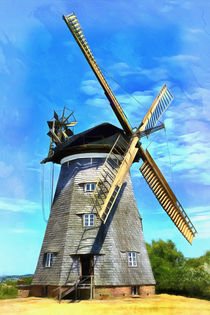 Historische Windmühle auf der Insel Usedom - Historic windmill on the island of Usedom von Thomas Klee