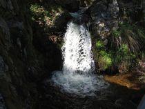 Licht und Schattiges - Wasserfall von Angelika Keller
