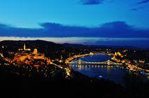 Budapest night view by Anna Zamorska