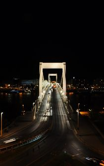 Budapest bridge at night von Anna Zamorska