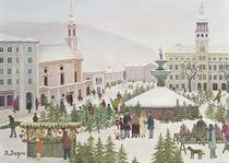 Christbaummarkt am Residenzplatz von Regine Dapra