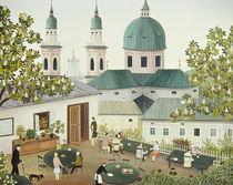 Gastgarten, Salzburg von Regine Dapra