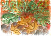 Grüne Zweige, bunte Blätter von Ursula Huber