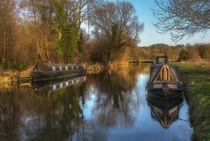 Narrow Boats At Woolhampton von Ian Lewis