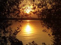 Sonnenuntergang am Plauer See by Iris Heuer