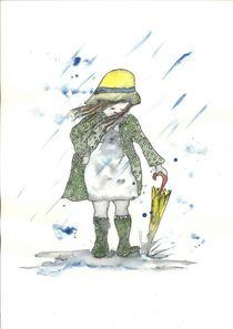 Regenmädchen von Maria Fetsch