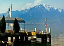 Plattform am Genfer See by Ditmar Brandt