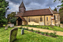 The Church of St Laurence in Tidmarsh by Ian Lewis