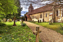 The Church At Tidmarsh in Berkshire von Ian Lewis