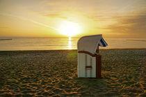 Strandkorb an der Ostsee - WIcker Beach chair on the Baltic Sea von Thomas Klee